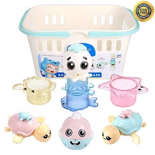 PEDY Wasserspiel Kinder Badespielzeug Baby Kleinkindspielzeug Badewannenspiel