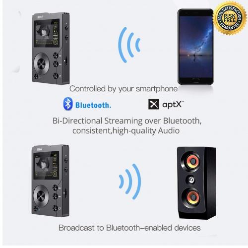 Grayish Black iRULU H10 HiFi MP3 Player mit Bluetooth 16GB DSD HiFi