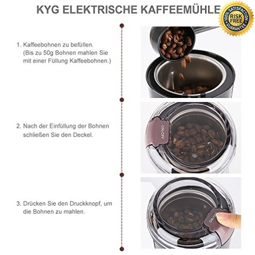 KYG Kaffeem�hle 300W Elektrische Kaffeem�hle Kaffeebohnen N�sse Gew�rze Get