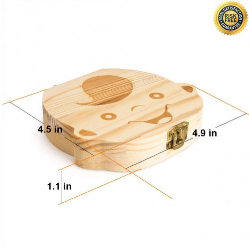 Ni/ña Caja de Dientes Acumulaci/ón de dientes Regalo para ni/ños en madera de souvenir Caja para guardar dientes para ni/ños y ni/ñas